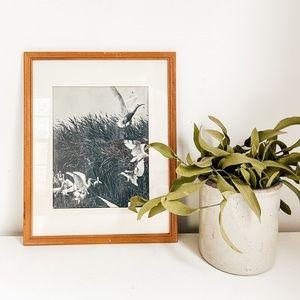 Black and white bird art